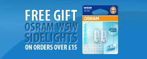 Free Gift - OSRAM Standard W5W Sidelights on orders over £15