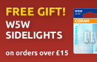 Free gift! W5W sidelights on orders over $23.00