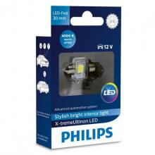Philips X-treme Ultinon Festoon LED C5W 4000K 30mm (single bulb)