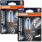 OSRAM NIGHT BREAKER UNLIMITED (WAS PLUS) H11 Headlight Bulbs (Twin Pack)