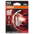 OSRAM NIGHT BREAKER UNLIMITED H3 Fog Lamp (Single Pack)