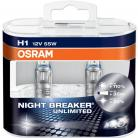OSRAM NIGHT BREAKER UNLIMITED (WAS PLUS) H1 Headlight Bulbs (Twin Pack)