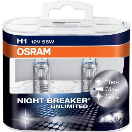 osram night breaker unlimited was plus h1 headlight bulbs twin pack car bulbs direct. Black Bedroom Furniture Sets. Home Design Ideas