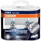 OSRAM NIGHT BREAKER UNLIMITED (WAS PLUS) 9005 (HB3) Headlight Bulbs (Twin Packs)