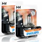 Philips Vision H4 Headlight Bulbs (Twin Pack)